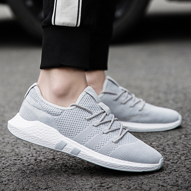 35dee3fea5ed33 2018 Autumn Trainers Lace up Outdoor Athletic Sport Shoes New Men Sneakers  Male Running Shoes Comfortable White shoes Masculino-in Running Shoes from  Sports ...
