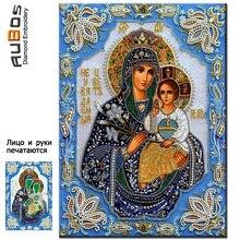 RUBOS NEW sale Patterns rhinestone religion virgin Jesus diamond embroidery icons DIY 5D mosaic needlework face printed
