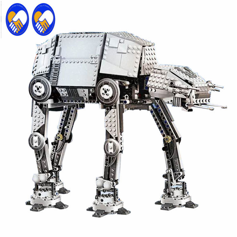 A Toy A Dream Lepin 05050 Star War Series AT-AT the Robot Electric Remote Control Building Blocks 1137pcs toy for children 10178 lonely robot lonely robot the big dream 2 lp cd