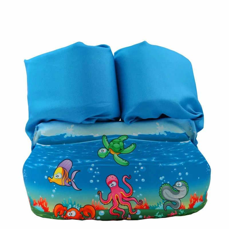 2-6 ปีเด็กทารกแหวนชีวิตเสื้อกั๊กลอยโฟมความปลอดภัยแขนเสื้อ Armlets ว่ายน้ำวงกลมหลอดแหวนว่ายน้ำแหวน