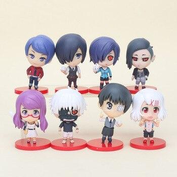4pcs/set 8cm Japanese Animation Tokyo Ghoul Kaneki Ken REI Sendasly Kirishima Toka Figure Toy