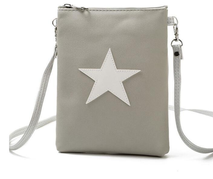 PU Leather Women Crossbody Bags Five-pointed Star Fashion Women Shoulder Bags Strap Mini Ladies Messenger Bag Gold