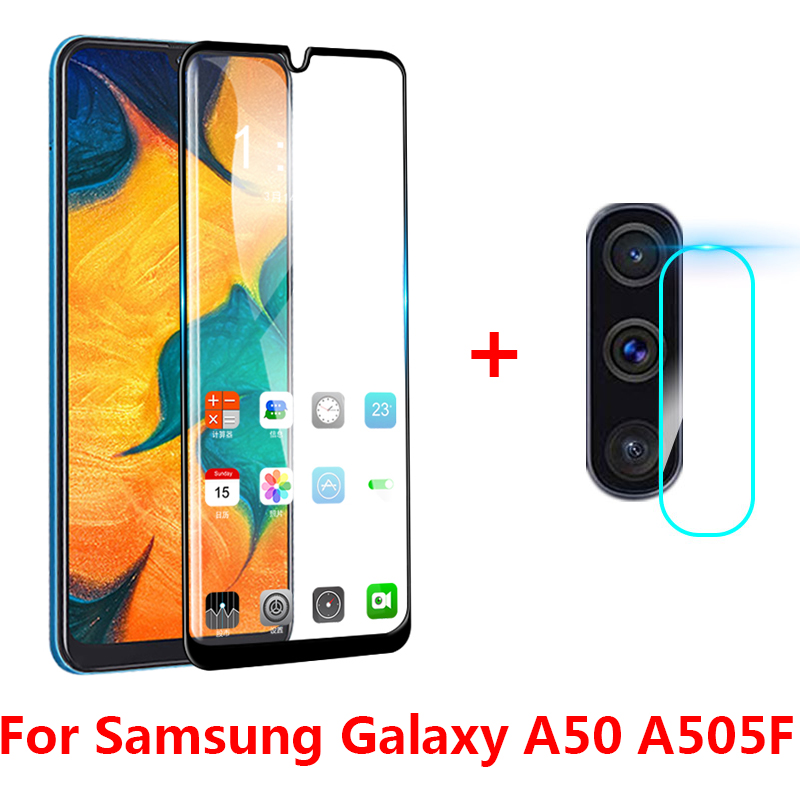 2-in-1 Back Camera Lens Tempered Glass For Samsung Galaxy A50 A 50 Screen Protector Glass For Samsung A50 A505F A70 A30 A20 Film