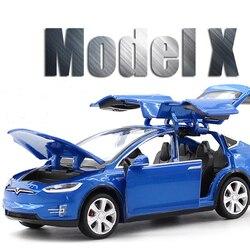 Voiture Tesla modèle X 1:32 en alliage pour enfant, jouet pour garçon, livraison gratuite