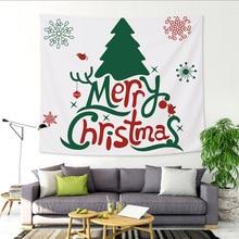 купить Christmas Decoration Tapestry Tree Santa Claus Elk Hippie Wall Tapestry Hanging Wall Blanket Table Cloth Party Tapiz Wall Fabric по цене 545.14 рублей