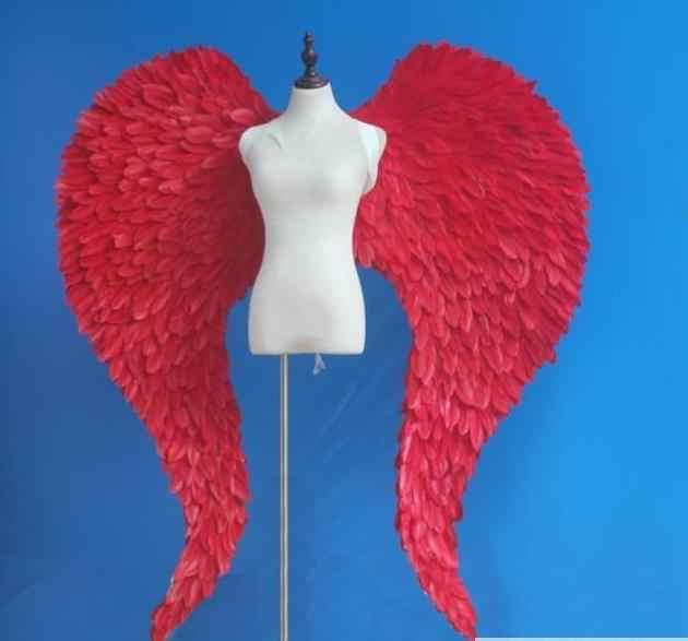 5 PACK 60cm LUXURY FEATHER WINGS ANGEL WINGS DEVIL WINGS BLACK RED OR WHITE