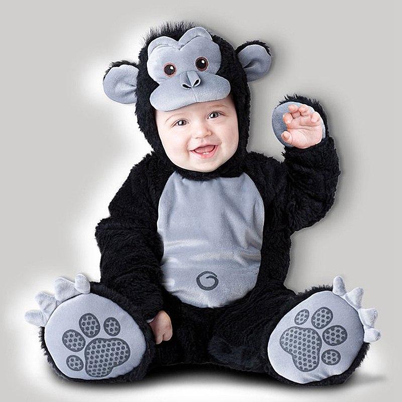King kong Baby Infant Romper Kids Onesie Suit Animal Costume Halloween Gorilla Co-splay Child autumn winter Clothing