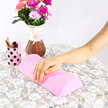 Pink Soft Cotton Cloth Hand Holder Cushion Pillow Nail Arm Towel Rest Nail Art Manicure Makeup Cosmetic Tools Beauty Y28