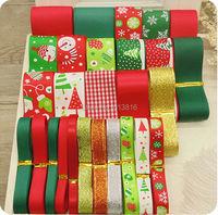 Free Shipping 27 YDS Mixed 27 Style Ribbon Set Christmas Ribbon Series Ribbon DIY