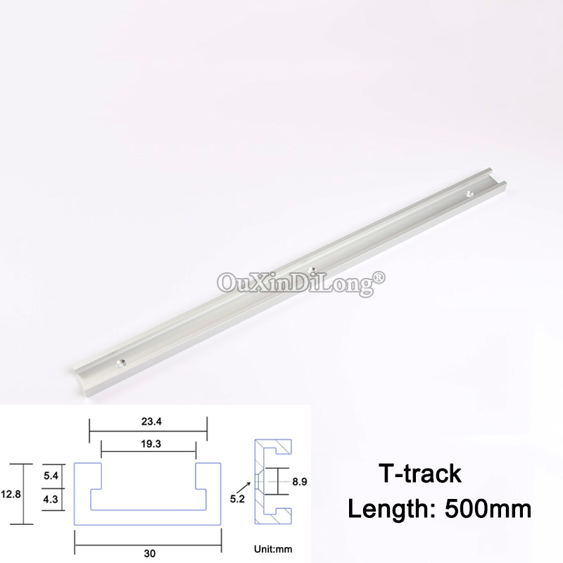 2PCS Length 500mm T-tracks T-slot Miter Track Jig Fixture Slot For Router Table Band Saw T-tracks JF1634 1pc 300mm length aluminum alloy t track router table saw woodworking t slot with anti corrosion