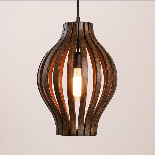Sdostasien Stil Kreative Einzigen Kopf Holz Kunst Retro Restaurant Pendelleuchte Wohnzimmer Dekoration Lampe