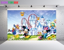 SHENGYONGBAO Vinyl Custom Photography Backdrops Props Mickey Mouse theme Digital Photo Studio Background NHSHD-10121