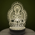 3d lámpara de mesa lámpara de escritorio USB lámpara de luz Llevada de acrílico luz de la noche creativa Buddism Bodhisattva Josen marca