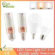 E27 Светодиодная Лампа E14 Светодиодная Лампа 3 Вт 6 Вт 9 Вт 12 Вт 16 Вт SMD2835 AC 220 В 240 В