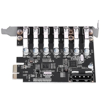 Pci E Usb 3.0 Expansion Card 7 Port Super Speed Usb 3.0 To 15Pin Sata Power Connector Pci Express Card Adapter