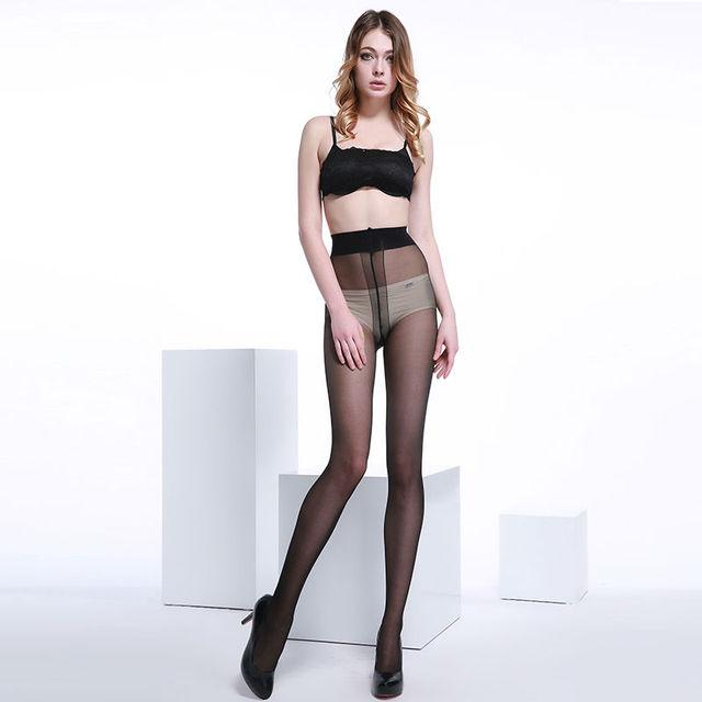 6 Pares das Mulheres ultra-fino Sexy Pantyhose 40D Core-fiado fio T Virilha Macacão Meias
