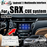 Newest Android 7.1 GPS Navigator for Cadillac SRX 2014 2018 year LVDS Interface support wireless carplay dongle by Lsailt
