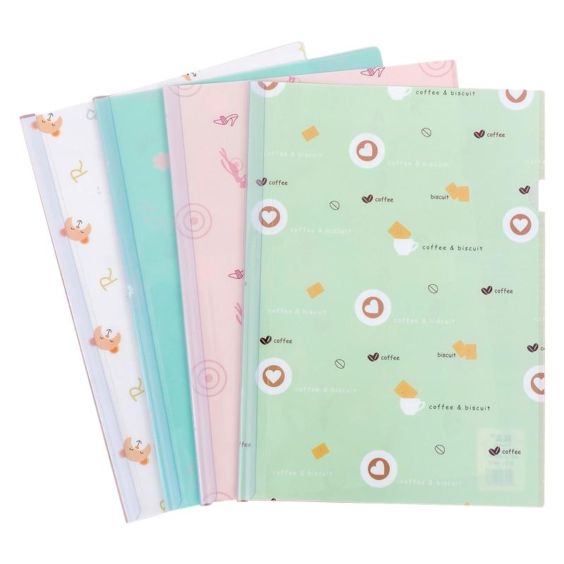 A4 transparent folder filing products spine bar document bag examination paper folder paper file