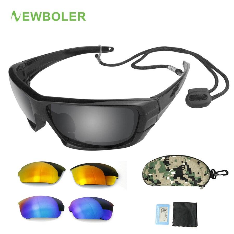 NEWBOLER Gafas polarizadas pesca Gafas lente reemplazable deporte Glassses conducción ciclismo UV400 sol Gafas de pesca