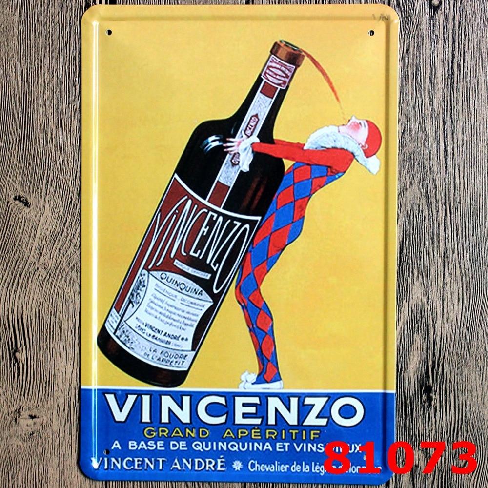 VINCENZO Vintage Home Decor Tin Sign For Beer Bar Pub Wall Decor ...