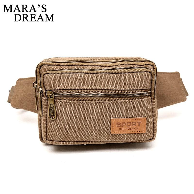 все цены на Mara's Dream High Quality Canvas Men Waist Pack Bags Casual Women Belt Bum Hip Purse Pouch Fanny Bags Travel Mobile Phone Bag