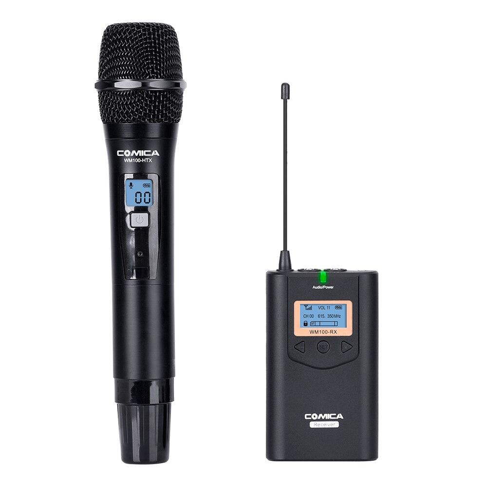 CoMica CVM WM100H Professional ไร้สาย Handhold Microphone 48 ช่อง 100 เมตรช่วง Mic สำหรับกล้องสมาร์ทโฟน IPhone Samsung-ใน ไมโครโฟน จาก อุปกรณ์อิเล็กทรอนิกส์ บน AliExpress - 11.11_สิบเอ็ด สิบเอ็ดวันคนโสด 1
