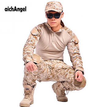 aichAngeI Tactical military uniform clothing army combat uniform tactical pants with knee pads camouflage uniforme militar - DISCOUNT ITEM  32% OFF All Category
