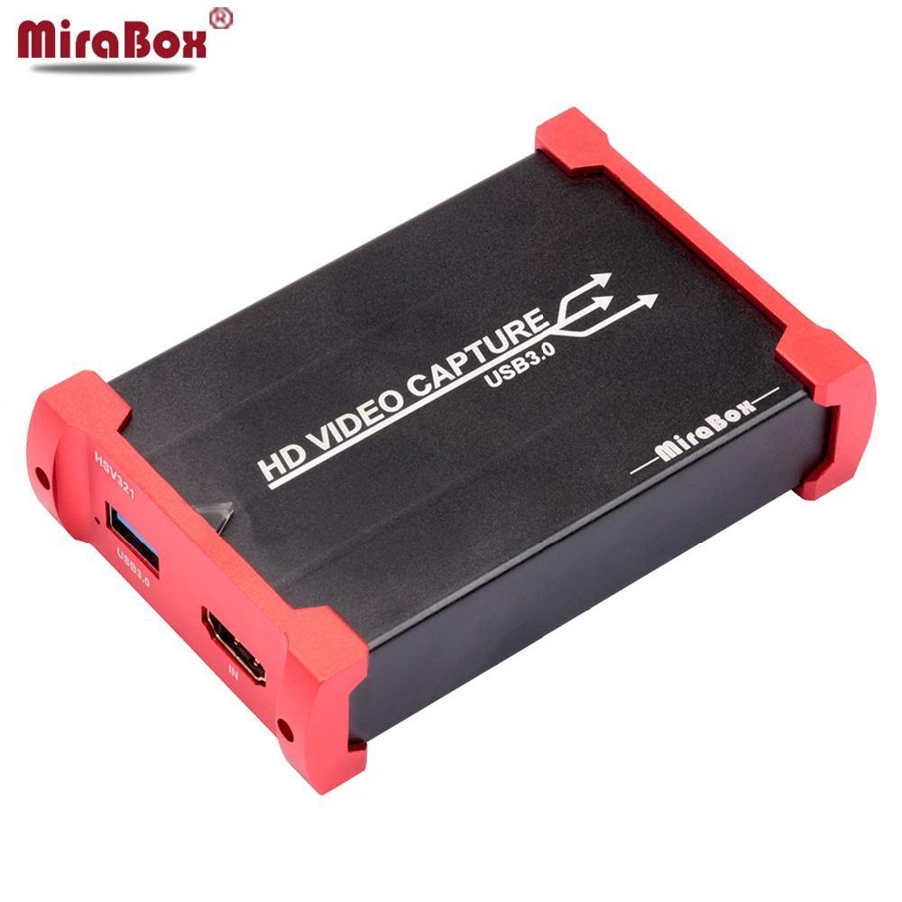 MiraBox HD USB Video Capture Card With HD HDMI Loop Out