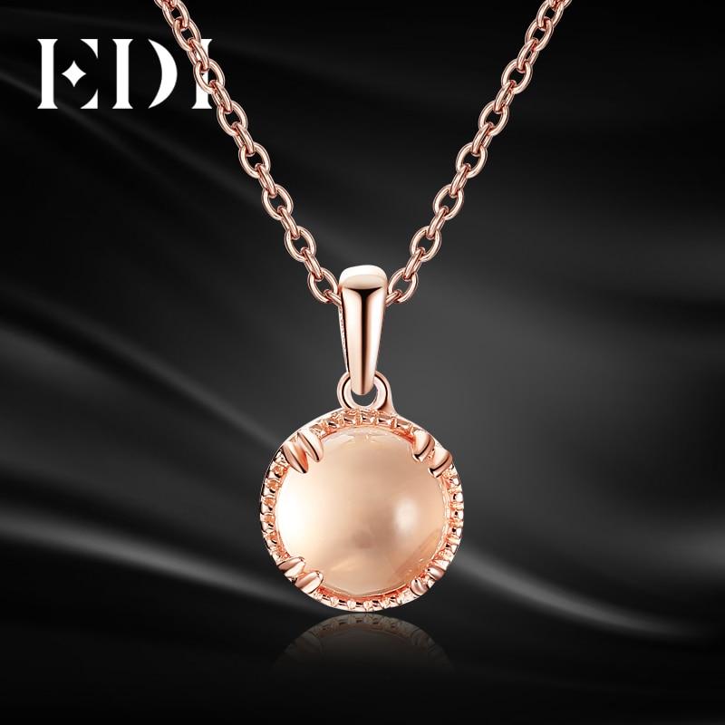 EDI Genuine 7mm Natural Rose Quartz Crystal 100 925 Sterling Silver Pendant Fine Jewelry For Women