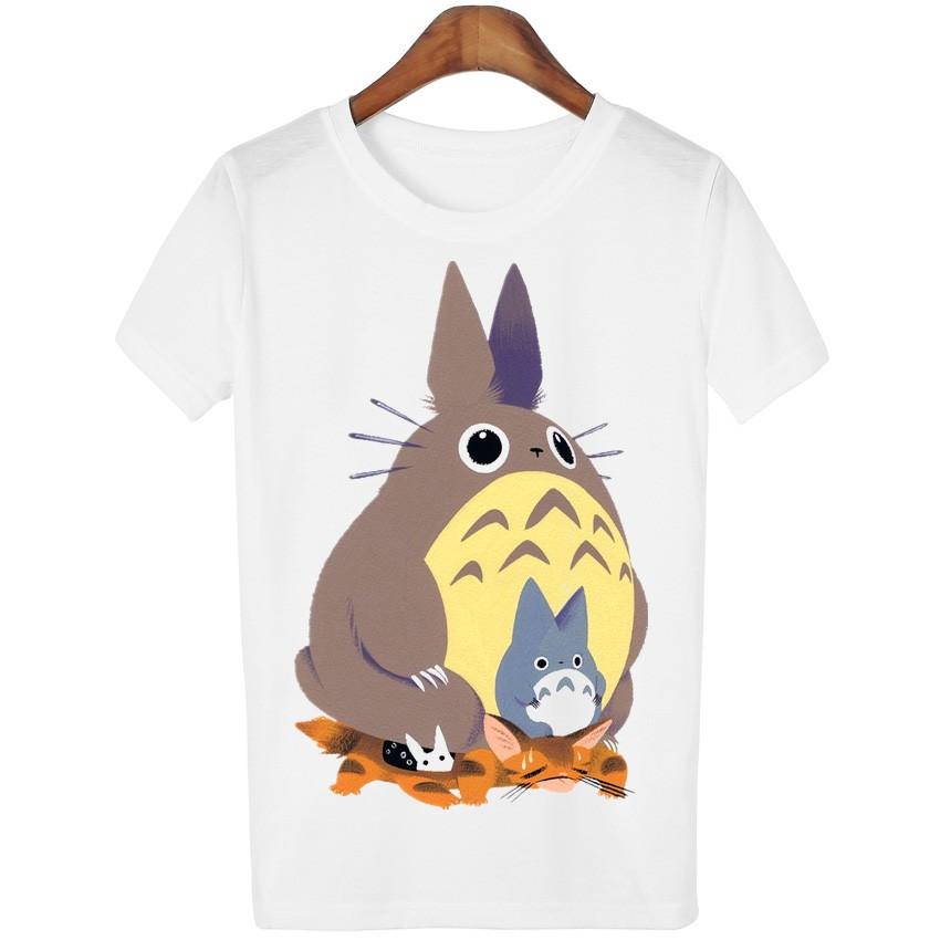 HTB1FNqALXXXXXbNXpXXq6xXFXXXf - New Cute Totoro T shirt Women Cartoon Casual Tops Tees