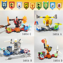 4Pcs/lot 2016 LEPIN 14014 Super Heroes NEXO Future Knights Building Blocks Toys Gift Minifigures