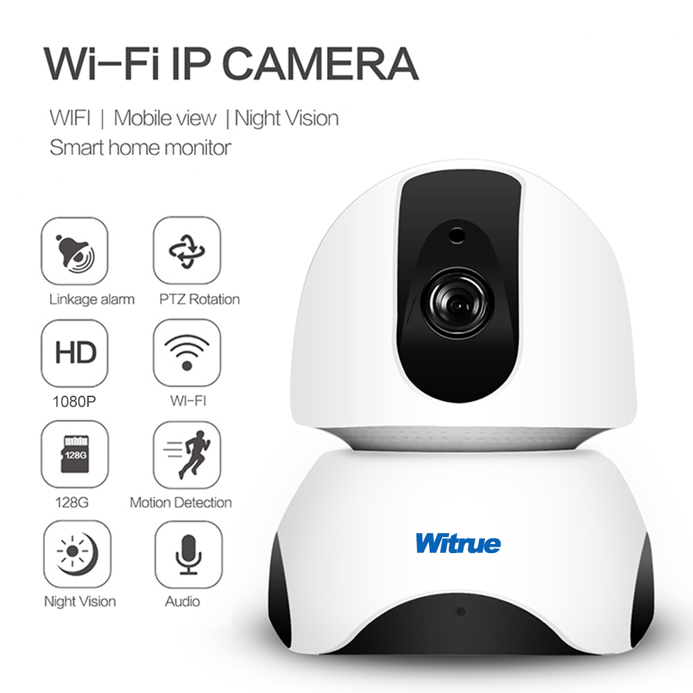 Witrue Home Security IP Camera Wireless Smart Wifi Camera Network Smart Home Mini Surveillance CCTV Camera HD 1080P Baby Monitor wireless wifi surveillance camera smart home wireless network hd monitor wireless mobile monitoring camera 2016 hot selling item