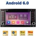 "7 ""Quad Core 2 ГБ RAM + 16 ГБ ROM 4 Г LTE SIM WIFI Android 6.0 Dvd-плеер автомобиля Радио Для Volkswagen Touareg Transporter T5 Multivan BT"