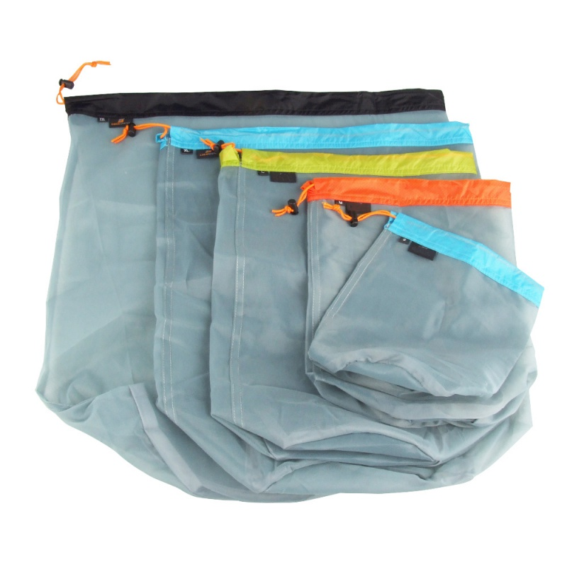 Ultralight Camping Sports Mesh Drawstring Storage Bag Hiking Climbing Stuff Sack Drawstring Laundry Bag Factory Price S-XXL