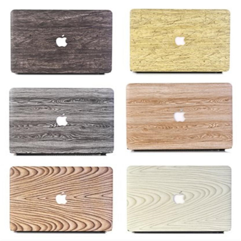 все цены на Leather Wood Case for Apple Macbook Air 11 12 13 inch Transparent Matte Case for Macbook Pro 13 15 Laptop Cover for Mac book