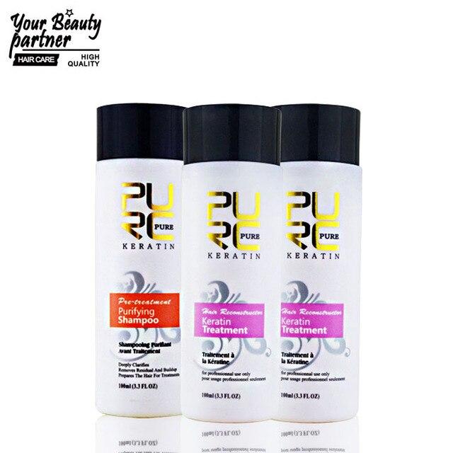 Кератин выпрямления волос лечение 2 х 100 мл 5%-ного формалина лучший кератина 100 мл очищающий шампунь бразильский кератин