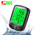 Sunding SD 563B Waterproof LCD Display Cycling Bike Bicycle Computer Odometer Speedometer with Green Backlight New Style