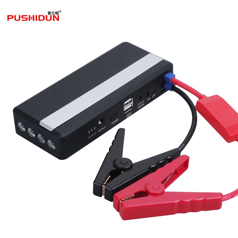 PUSHIDUN Car Booster Emergency Car Jump Starter Car Battery High Power with LED Lights Jump Start