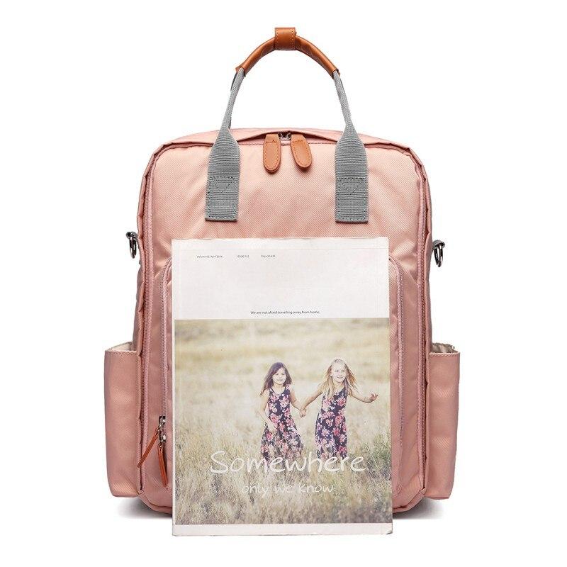 Mommy pañal bolsas rayas nuevo hombro Top maternidad mochila multifuncional bebé de gran capacidad Paquete Impermeable