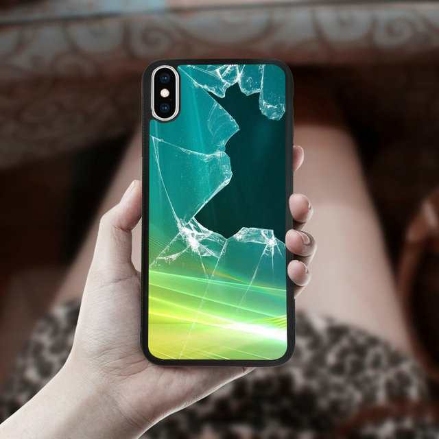 more photos 54aad 169ff US $4.99  Fashion Broken Screen For iphone XS Max Case in Fitted Cases 6.5  inches PC TPU Soft Rubber Mobile Phone Bag Shell-in Fitted Cases from ...