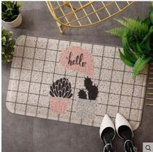 Romantic Floral Room Floor Mats,Sweet Rose Print Carpets For Living Room Modern,Coral Fleece Bathroom Water Rug.40cm*60cm bohemian floral print floor rug