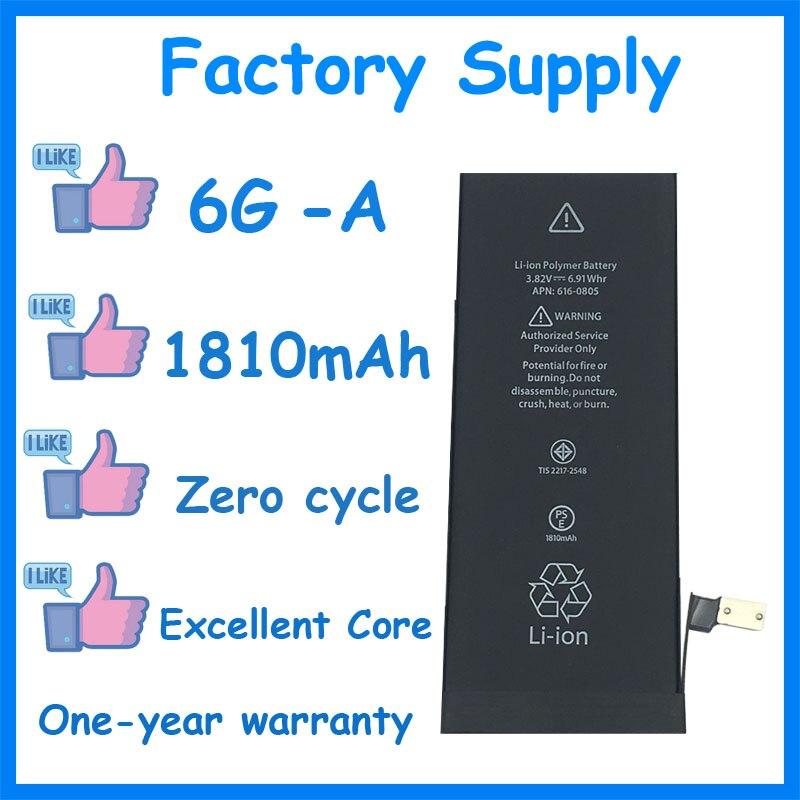 DaDaxiong 10 pièces/lot approvisionnement d'usine 1810mAh batterie pour iPhone 6 6G véritable zéro cycle pièces de rechange 6G-A