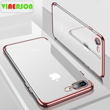 Silikon Clear Soft Case untuk iPhone X 10 X Max XR iPhone 6 S 6 6 S 6 Plus 6 S PLUS iPhone 7 8 7 Plus 7 Plus Ponsel Cover Casing(China)