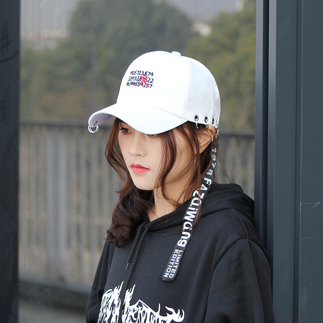 efc1067a8fa40 Korean Style Fashion Novelty letter Caps For Men Women Casquette 2018  Ulzzang Harajuku Ribbon Baseball Cap