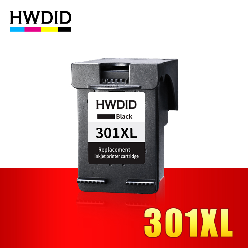 HWDID 301XL Refilled Ink Cartridge Replacement for HP 301 xl BK for Deskjet 1050 1510 2050 2050s 3050 Envy 4500 4502 4504 5530