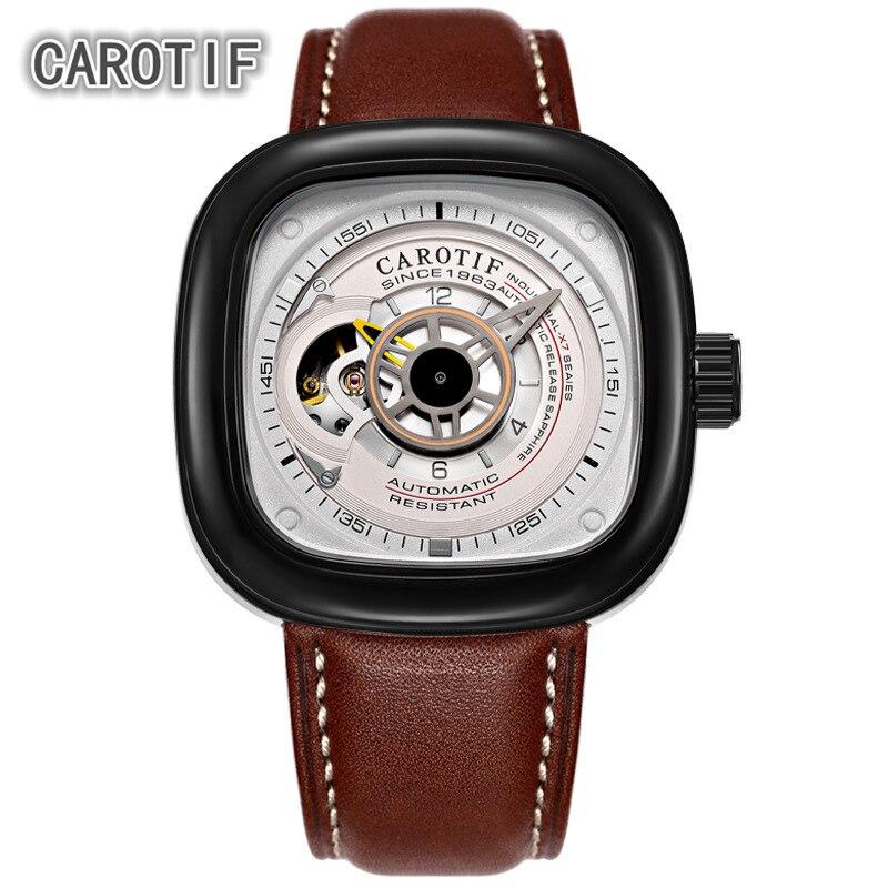 Люксовый бренд Tourbillon Мужские часы Montre автоматические механические наручные часы мужские Reloj Hombre бизнес часы мужские дропшиппинг