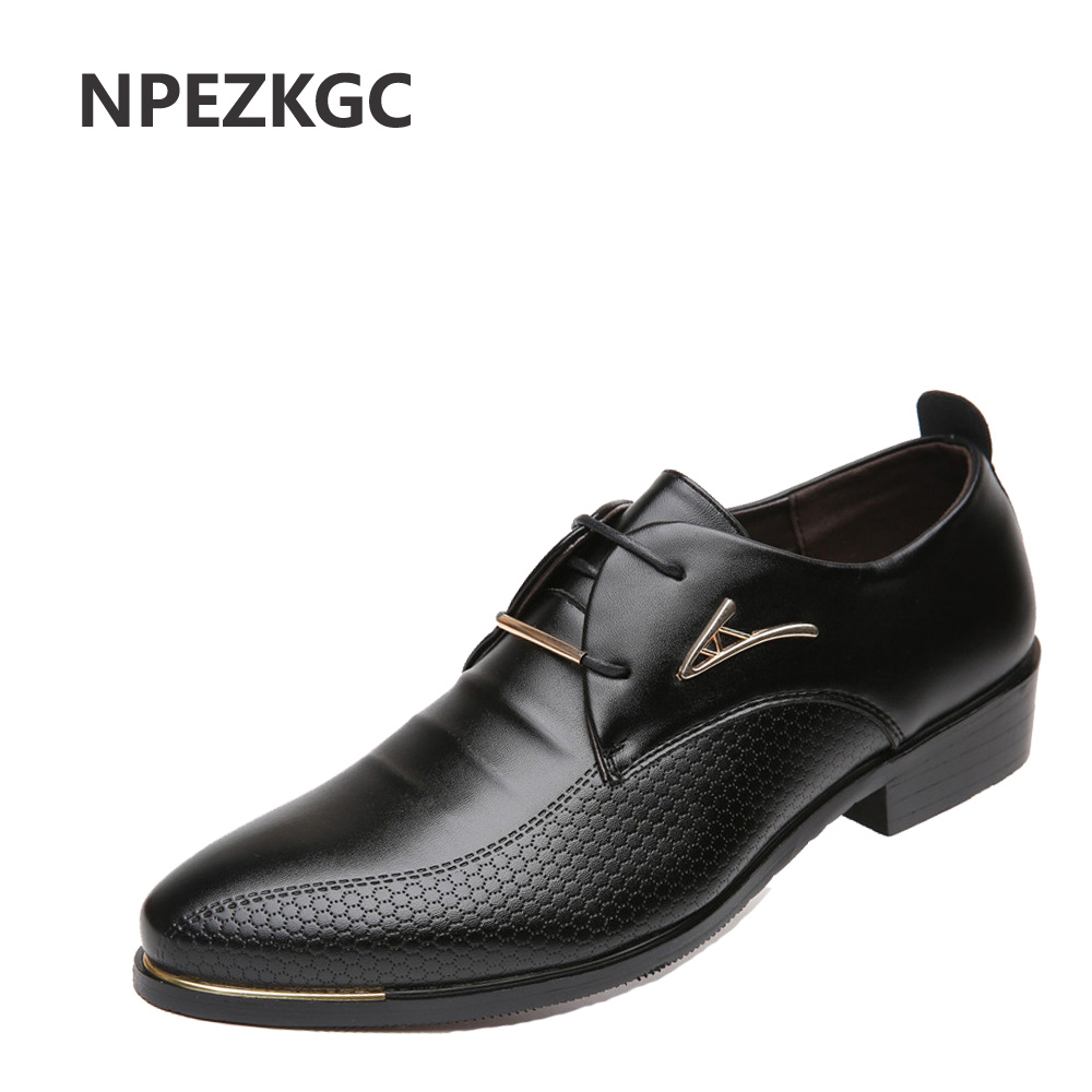 NPEZKGC New oxford shoes for men Fashion Men Leather Shoes Spring Autumn Men Casual Flat Patent Leather men shoes size 46