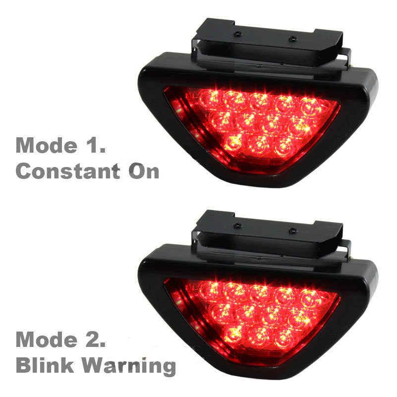 Универсальный светодиодный стоп светильник F1 Стиль Треугольники 12 светодиодный заднего задний свет, Обратный безопасности сигнальная лампа