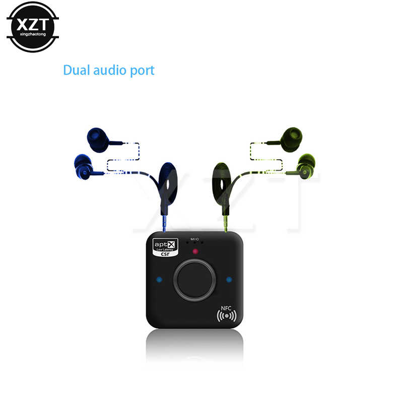 B7 Plus беспроводной Bluetooth 4,2 приемник aptX LL низкая задержка двухпортовый Аудио Микрофон CVC6.0 NFC музыкальный адаптер для ноутбука автомобиля