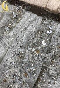 Image 5 - הריין אמיתי תמונות גריי חרוזים קריסטל סקסי סירת צוואר אופנה מפלגת שמלות שמלות נשף 2019